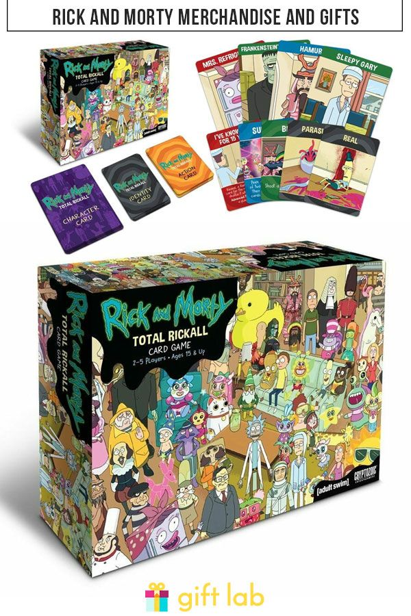 Get Schwifty The Ultimate List Of Rick And Morty Merchandise And Gifts In 2020 Giftlab Rick And Morty Game Card Games Rick And Morty Merch
