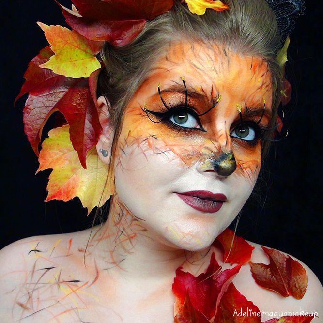 Maquillage Artistique Halloween.Maquillage Artistique Fox Automne Monday Shadow Challenge By Adeline Maqua Halloween Face Makeup Halloween Face Face