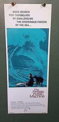 ~1969 THE FANTASTIC PLASTIC MACHINE Original Poster 14x36 SURFING DOCUMENTARY