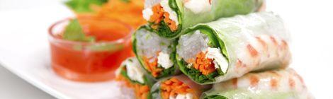 Rollitos, comida vietnamita
