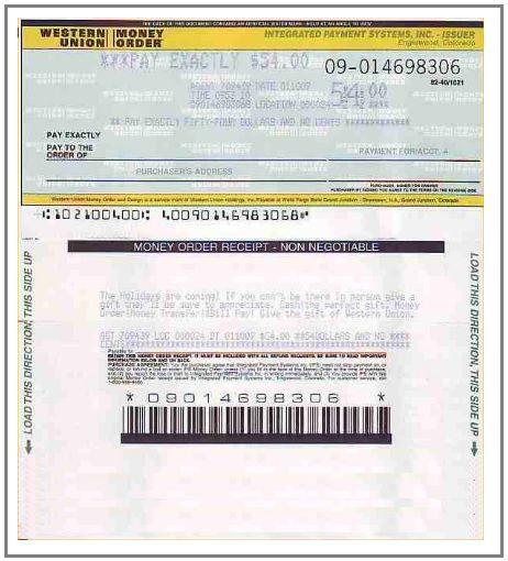 3 Money Order Receipt Templates Free Excel Word Pdf