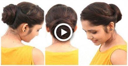 2 min coiffure facile pour cheveux mi-longs