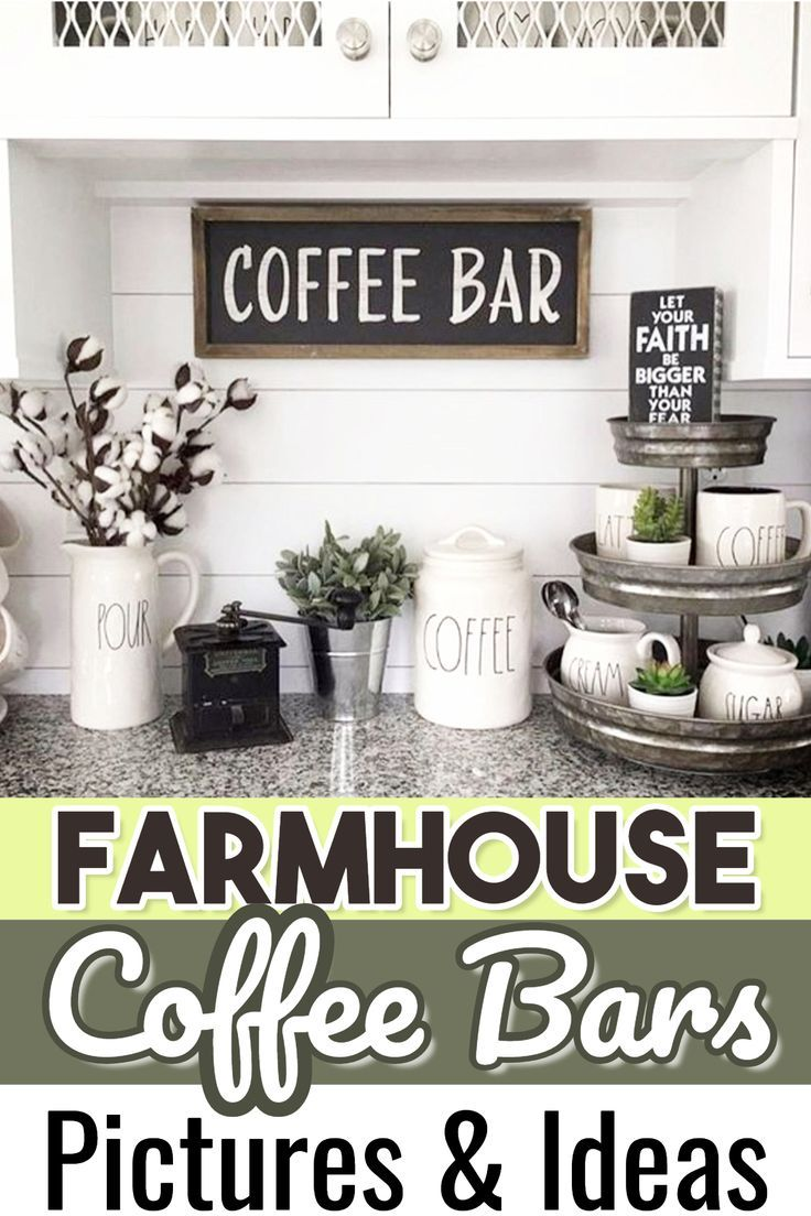 Diy Coffee Bar Ideas Stunning Farmhouse Style Beverage Stations For Small Spaces And Tiny Kitchens Decluttering Your Life Farmhouse Coffee Bar Diy Coffee Bar Coffee Bar