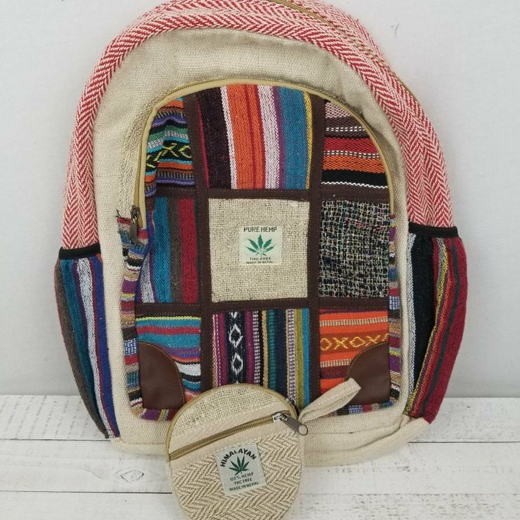 FREE hemp coin purse with purchase of any hemp backpack!