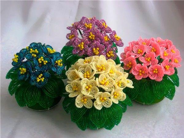 Цветы из бисера, мастер-классы.