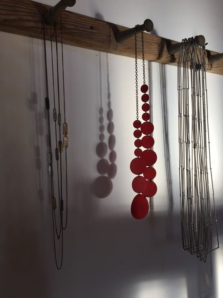 #Necklaces hanging inside the workshop - #shadows #jewels #jewelry #designjewels #handmade #handcrafted #MonicaTrevisi