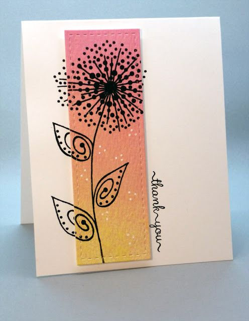Woodware Dotty Flower stamp.