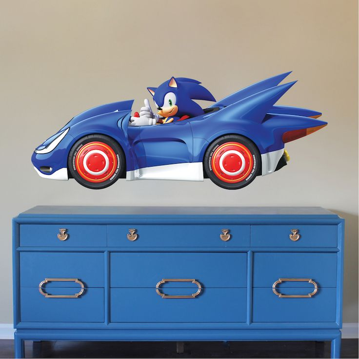 sega sonic wall decal superhero wall decals wall decal on sonic wall id=62993