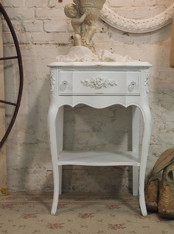 Painted Cottage Chic Shabby White Romantic by paintedcottages, $160.00  Just give me one falling apart - I can do this!!!!