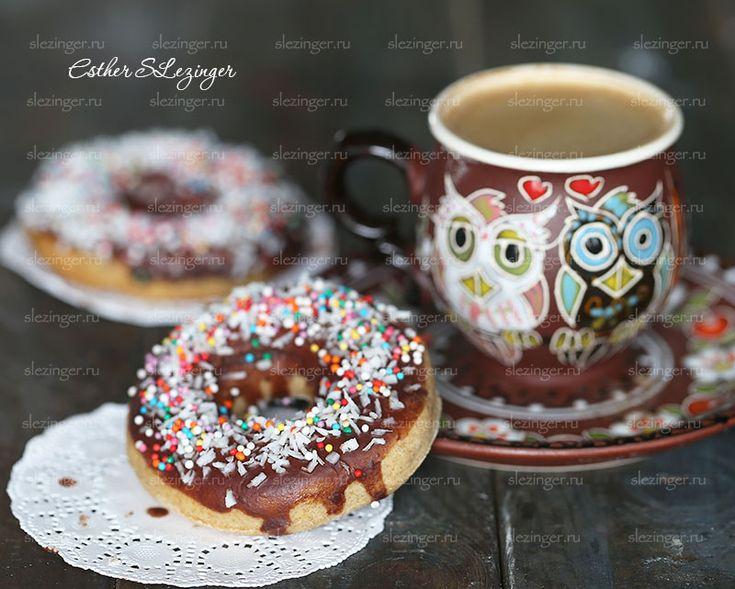 Полезные пончики в духовке с шоколадной глазурью | Рецепты правильного питания - Эстер Слезингер