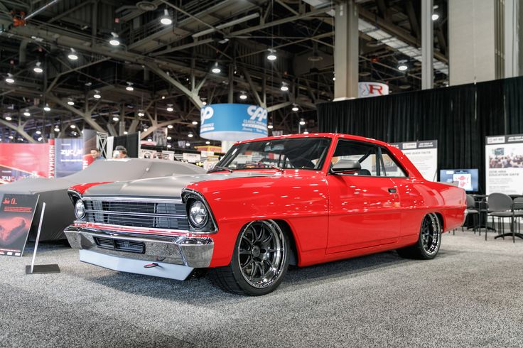 Why compromise between style and performance? Bob's '67 #Chevy II was built for both style and serious competitive driving events by the team at #DetroitSpeed. It's powered by a Holley EFI fuel-injected wet-sump LS7 and rides on Detroit Speed's complete front subframe, Detroit Speed rear QUADRALink suspension, and 18x10/18x11.5 #Forgeline #GZ3R wheels finished with Satin Graphite centers, Polished outers, and the optional bolt-on Competition center caps.  Photo by Ken Cox Photography.