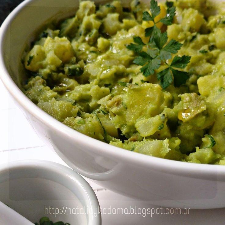 Salada de batatas com maionese de abacate ~ Natalia Kodama - nutricionista