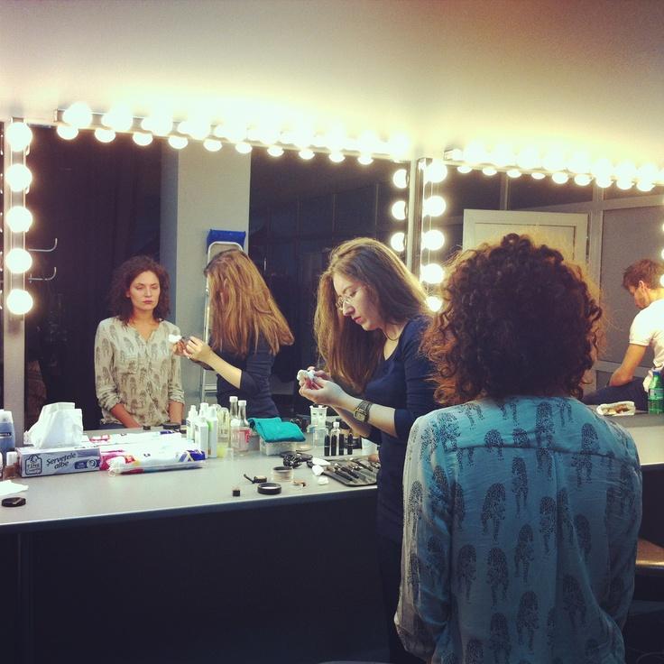 Make-up session.