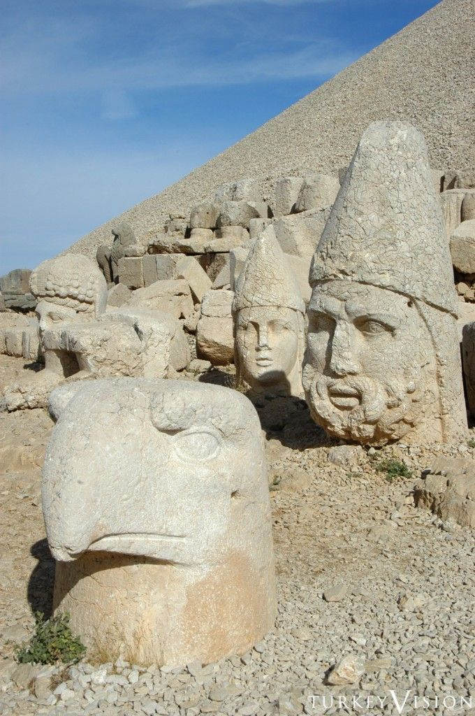 Nemrut Dağ-Turkey.      The mausoleum of  the Antiochus I, Commagene King, Nemrut Dağ The mausoleum of Antiochus I (69–34 B.C.), who reigned over Commagene, a kingd...