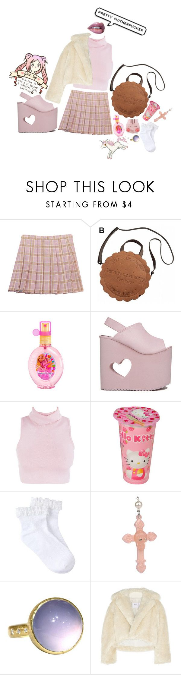 """not really that good tbh ._."" by memealicious ❤ liked on Polyvore featuring Chicnova Fashion, Nikki Lipstick, Hello Kitty, Tarina Tarantino, Toga and GET LOST"