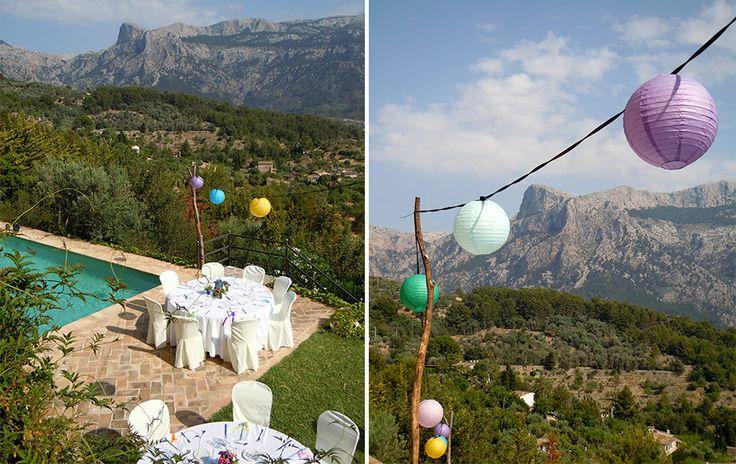 Color lights ball - wedding lightening- Soller town- wedding mallorca