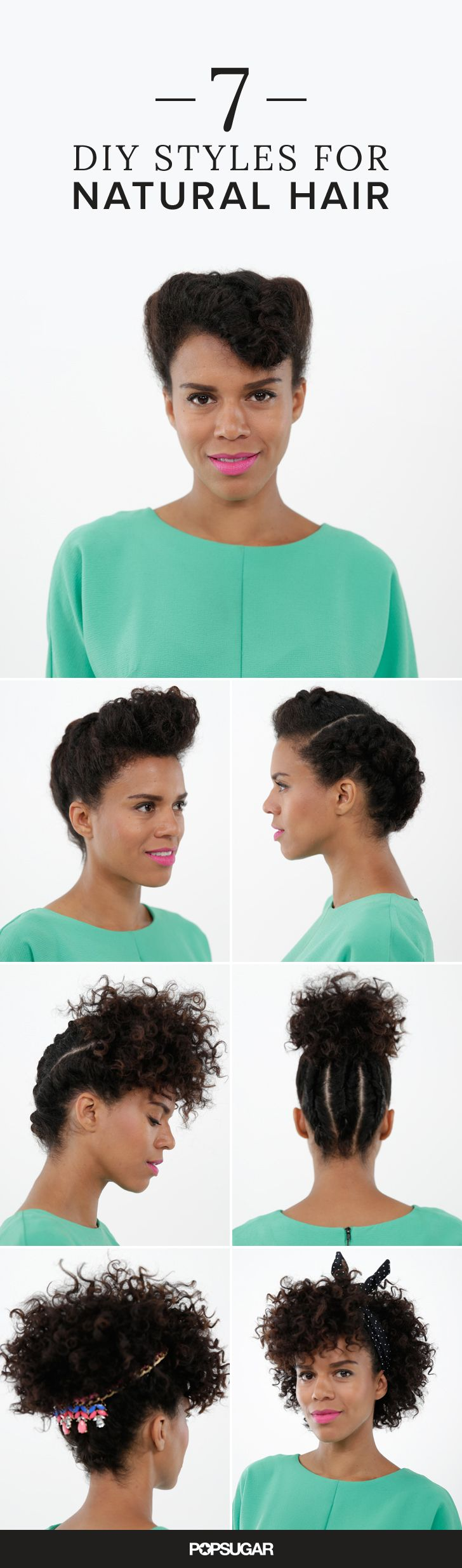 Calling all curly girls! If you've been stuck in a hairstyle rut as of late, we've put together 7 easy DIY hairstyles you can take anywhere. From the office, to happy hour, or to your end-of-Summer barbecues, your hair will always be on point!