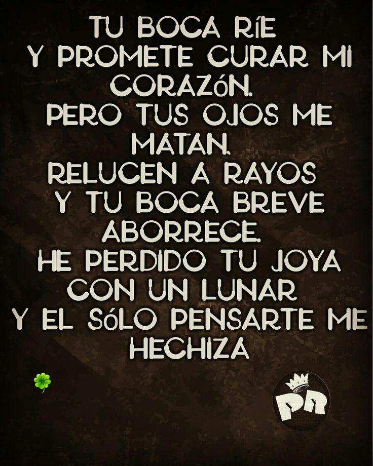 tu boca rie y promete curar mi corazon ♪ #PR