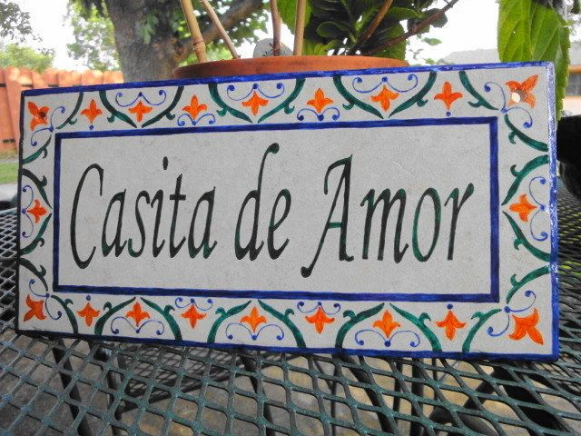 Custom Hand Painted House Number Tile by carmenstiles on Etsy