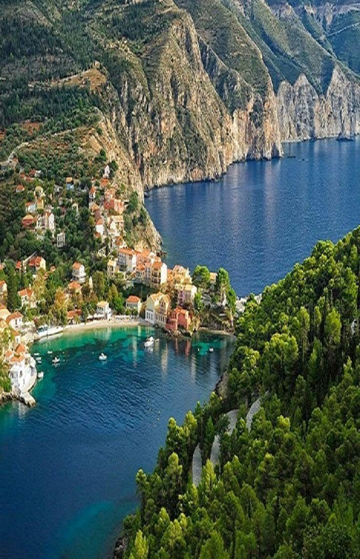 Destinations Planet Assos Kefalonia Island Greece Travel Pinterest Beautiful Greece