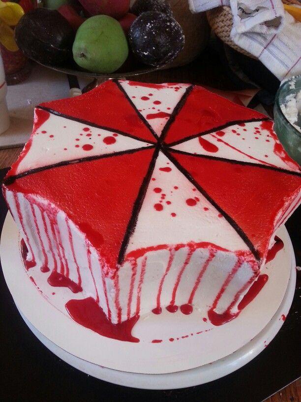 Umbrella Corp Cake Creative Cakes Party Cakes Cake