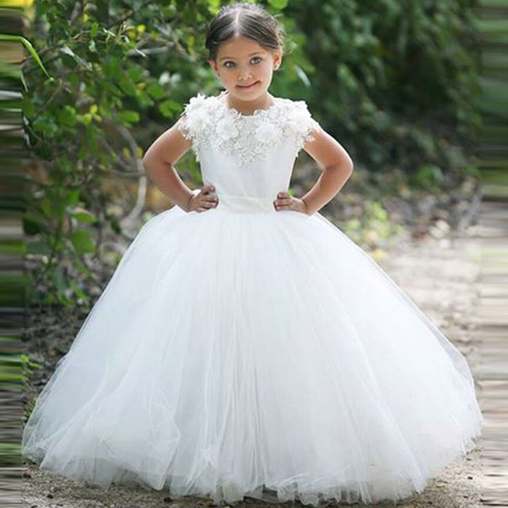 66 best flower girl dresses images on Pinterest | Pageant gowns ...