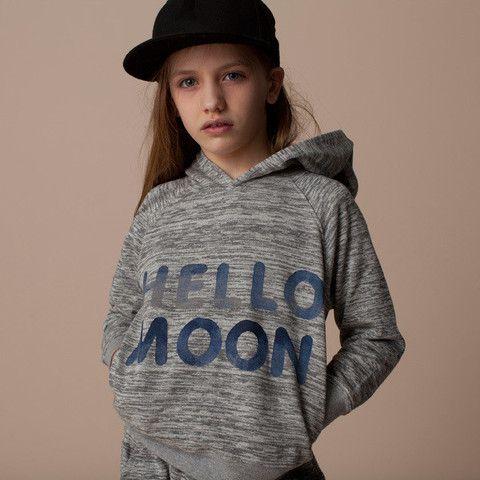 hello moon hoodie | Tinypeople