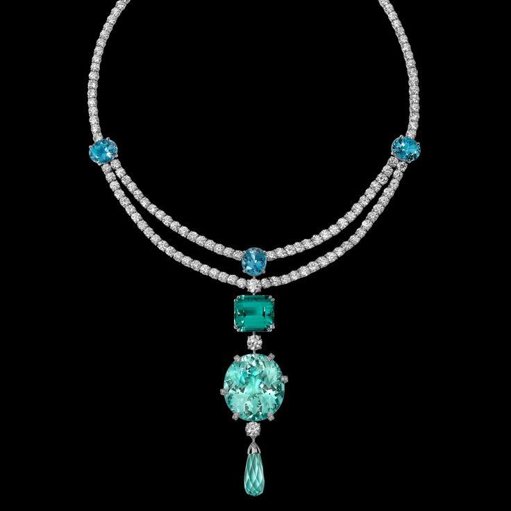 Collar oro blanco diamante turmalina - PIAGET Joyas y Alta Joyería