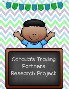 * May 23, 2015 - This product has been updated based on feedback provided. If you have purchased this resource, please redownload it and resubmit your feedback. This inquiry based activity focuses second strand of the Grade 6 Ontario Social Studies Curriculum (People and Environments: Canada's Interactions with the Global Community).In this project, students research one of Canada's Trading Partners by answering the following questions (not limited to) : - What agreement does Canada have…