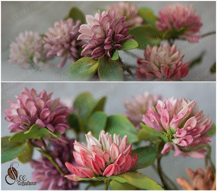 Цветы из фоамирана клевер