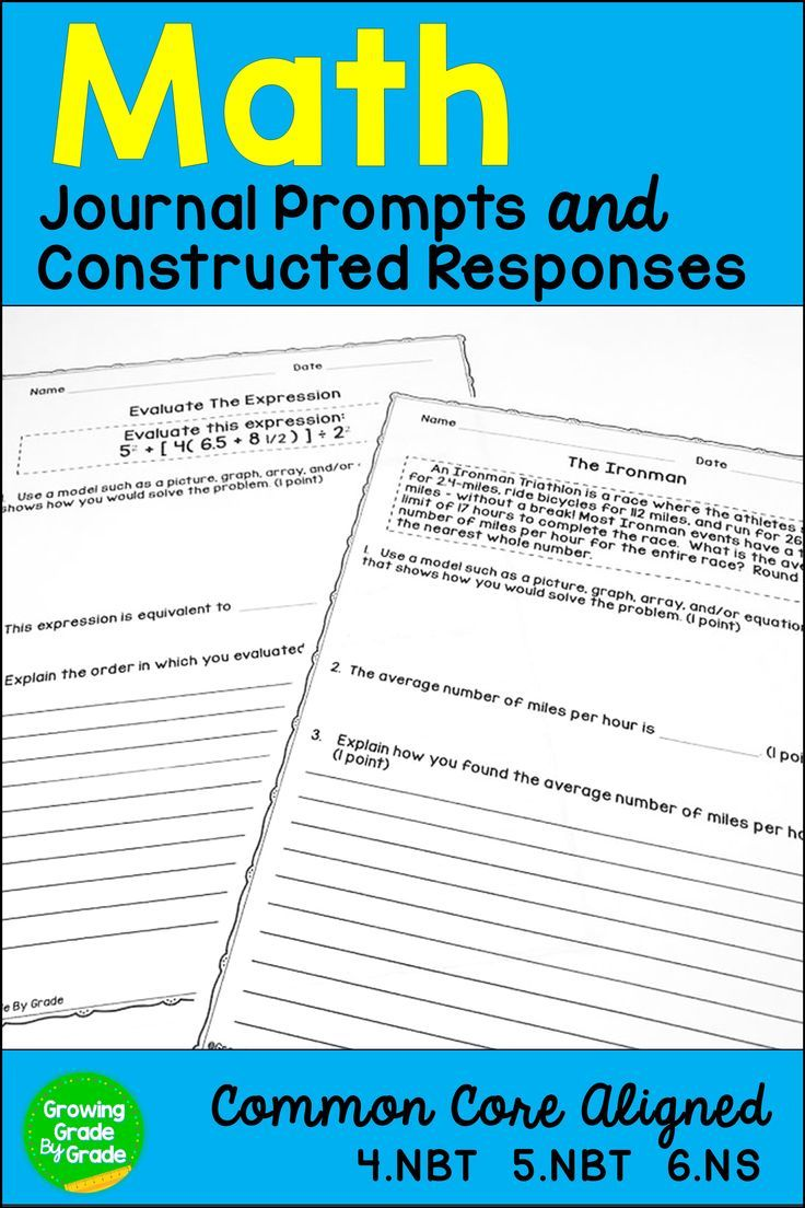 Are you looking for powerful math materials for your 4th and 5th grade students? Bring Math Journal Prompts and Constructed Responses into your classroom! These word problems require critical thinking that builds concepts and hones writing skills. Use with your fourth and fifth graders for independent work, assessments, test prep, morning work, or homework. They are Common Core aligned, but work for any curriculum. Prep is simple - just copy and go!