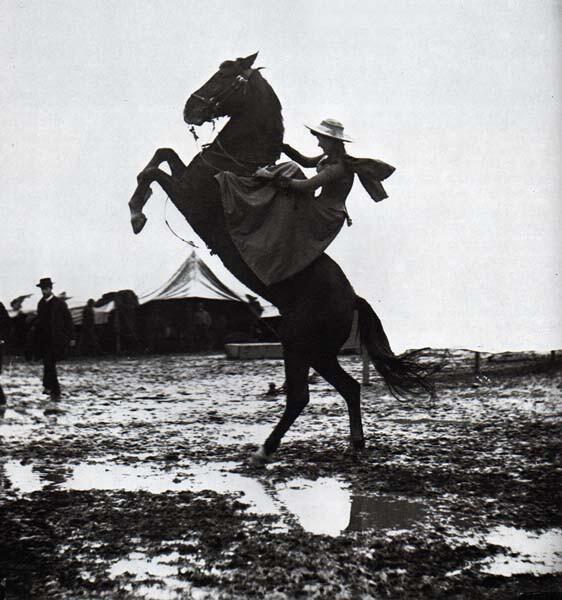wolfenstain: Annie Oakley in Rome with Buffalo Bill's Wild West Show in 1890.