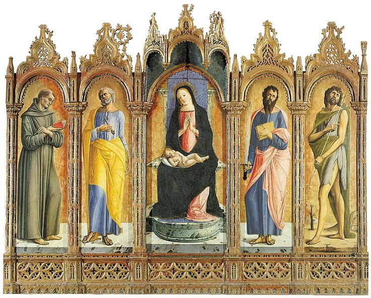 463. Alvise Vivarini - Madonna col Bambino e quattro santi