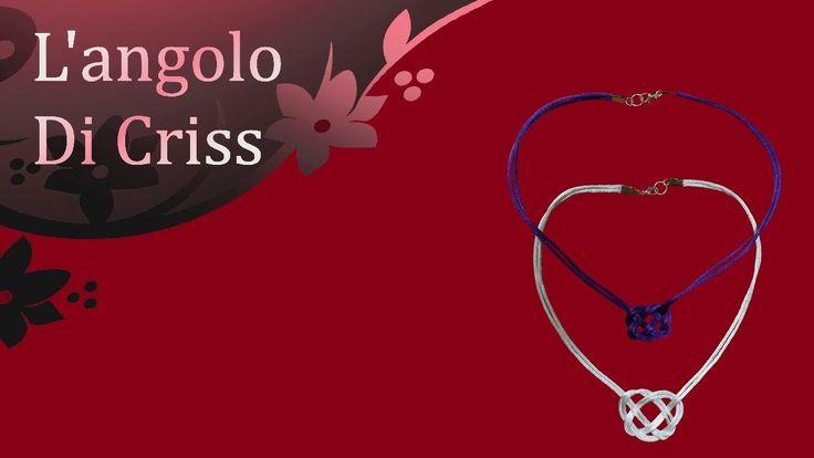 Collier cuore celtico -  tutorial passo a passo -   diy necklace