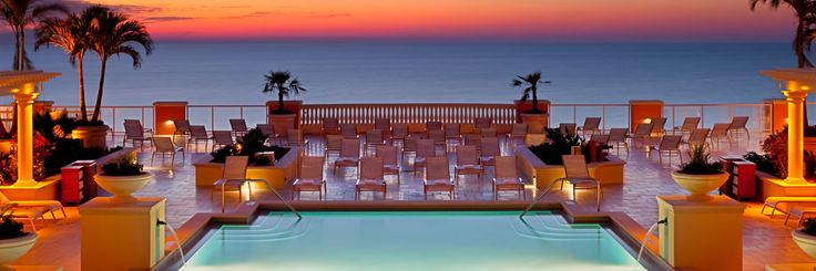 Pool at Dusk, hyatt Clearwater Beach, Florida