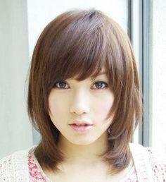 medium japanese haircut woman - Google Search
