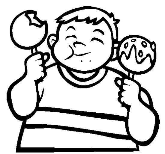 Candy Apple Coloring Page