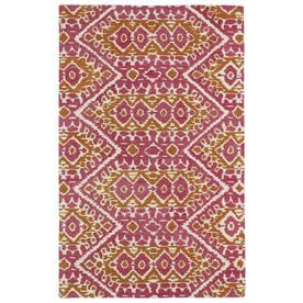 Kaleen Global Inspiration Pink Rectangular Indoor Handcrafted Southwestern Area Rug (Common: 8 X 10; Actual: 8-Ft W X 10