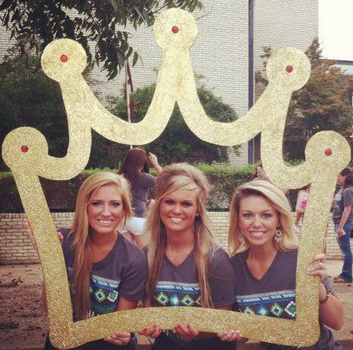 Socials - Use a crown cut out for Bid Day pictures, as part of sisterhood events or at socials in a photo-booth. (scheduled via http://www.tailwindapp.com?utm_source=pinterest&utm_medium=twpin&utm_content=post11902544&utm_campaign=scheduler_attribution)