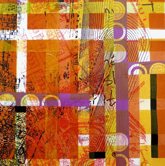 Kym Burke - Here, here and here - mixed media on paper