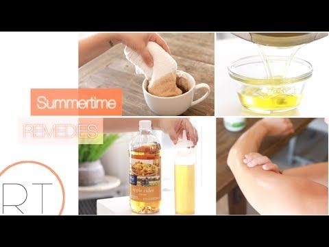 Easy & Natural Summer Remedies (for Sunburn, Chlorine Hair, Bug Bites) - YouTube - RACHEL TALBOTT