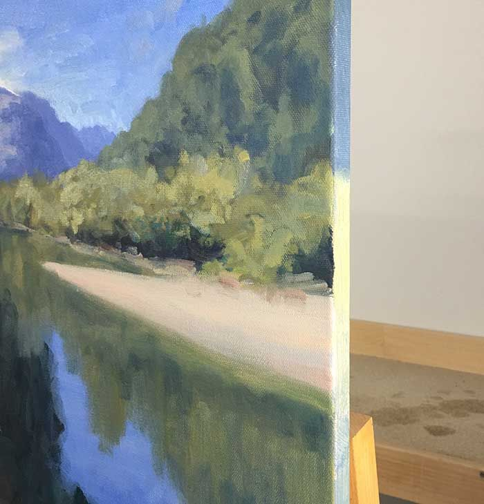 How To Paint This New Zealand River Landscape Painting River