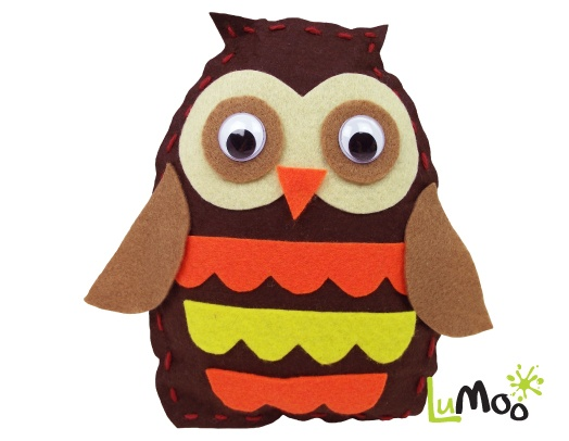 Sew Your Own Owl Friend Kit from LuMoo.
