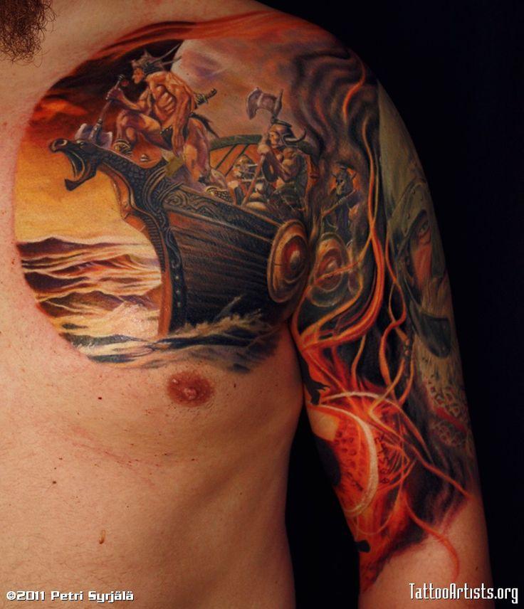 Tribal Viking Tattoos   Viking Tattoos Designs And Idea For Men-Viking Tattoo Meaning   Tribal ...