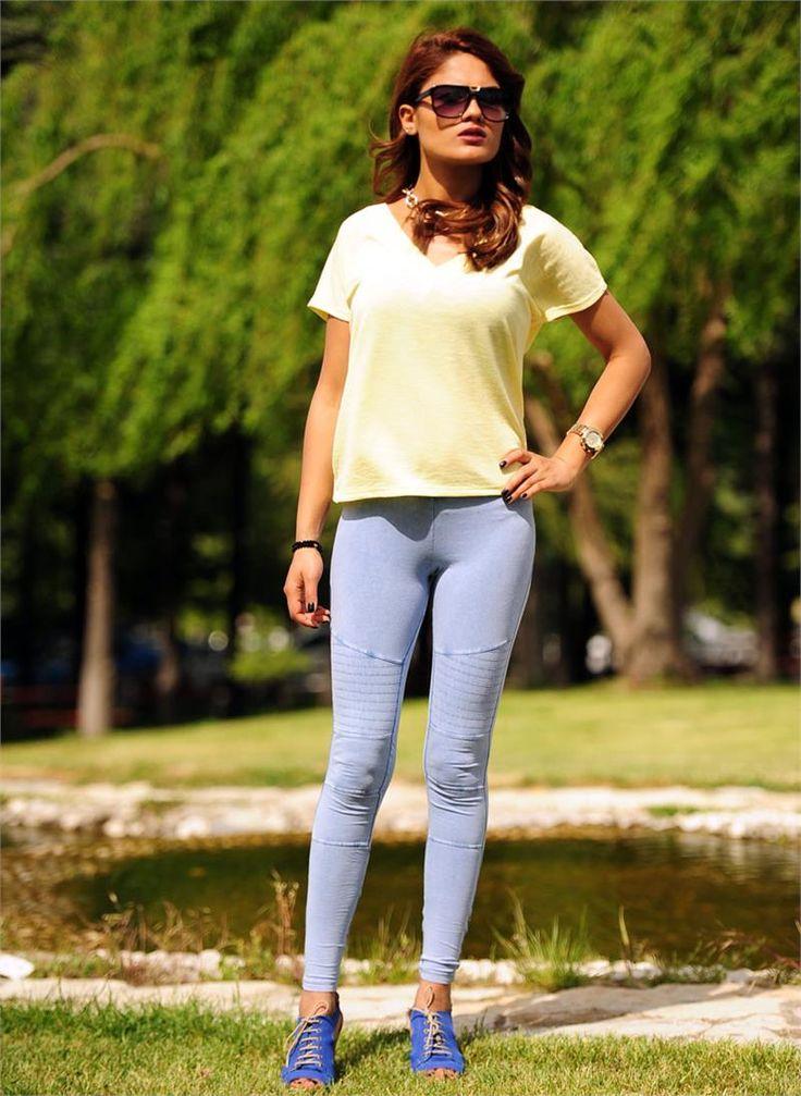 Bayan Tayt Acık Mavi | Modelleri ve Uygun Fiyat Avantajıyla | Modabenle
