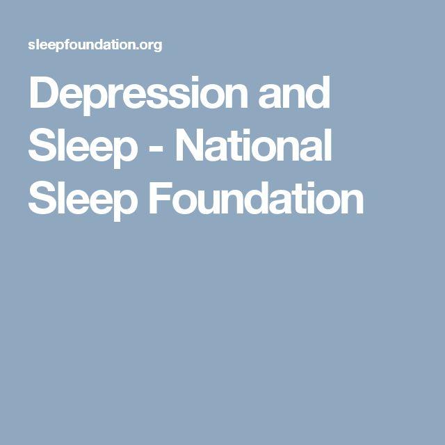 Depression and Sleep - National Sleep Foundation