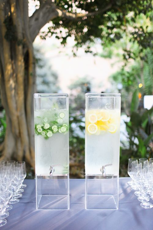 Lovely lemon and lime water dispensers; photos by Adrienne Gunde Photography | junebugweddings.com