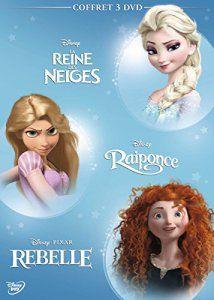 Coffret 3 DVD – Les héroïnes: La Reine des neiges + Raiponce + Rebelle