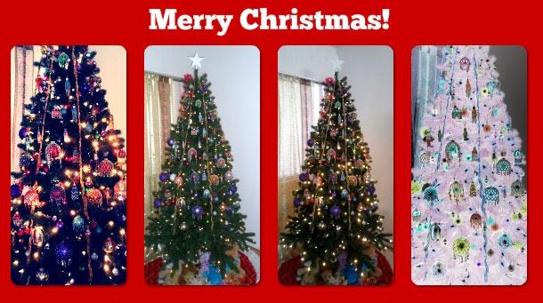 Christmas tree beaded ornament cover patterns at Sova-Enterprises.com