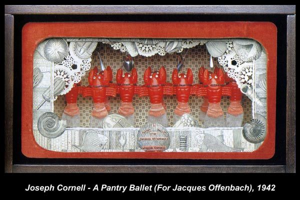A Pantry Ballet (for Jacques Offenbach), 1942 by Joseph Cornell ... Family man, respected artist, odd duck - but very interesting work!